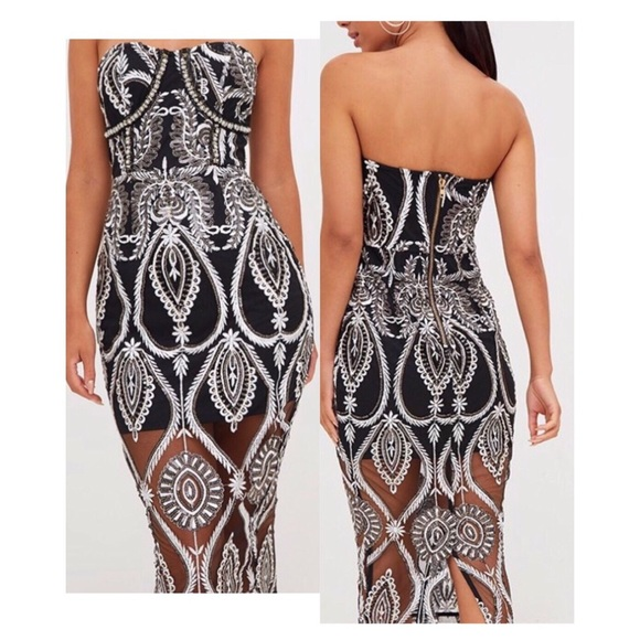 PrettyLittleThing Dresses & Skirts - Embellished Midi Dress by Pretty Little Thing US 4
